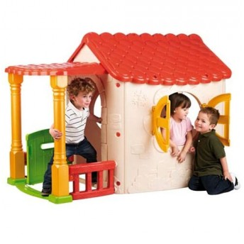 Cottage Plastic Playhouse by JumpJoker.com