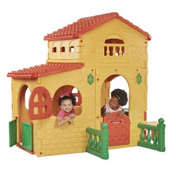 Country Plastic Playhouse - by JumpJoker.com