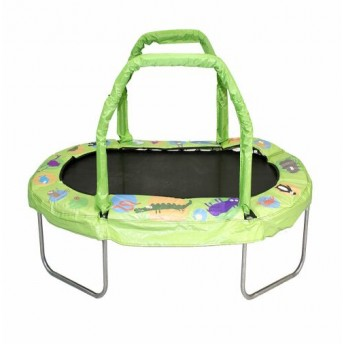 Green Kids Trampoline by JumpJoker.com