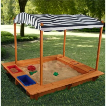 Kids Sandbox with Canopy - by JumpJoker.com