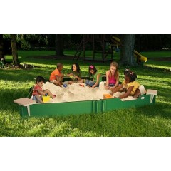 Large Kids Sandbox with Cover 10' x 10'