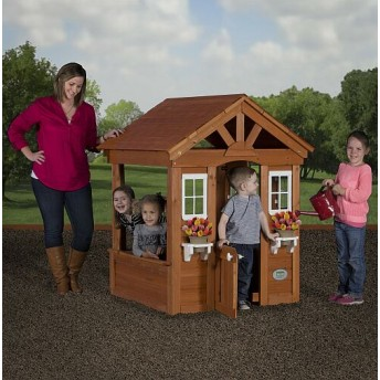Wooden Playhouse for yard games and fun activities